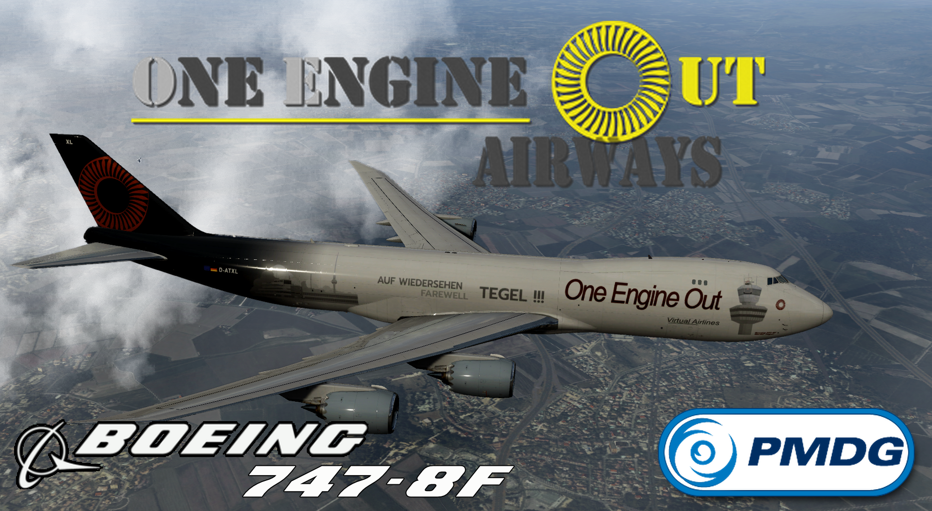 PMDG 747-8F OEO Cargo (Special Edition - TEGEL Farewell)