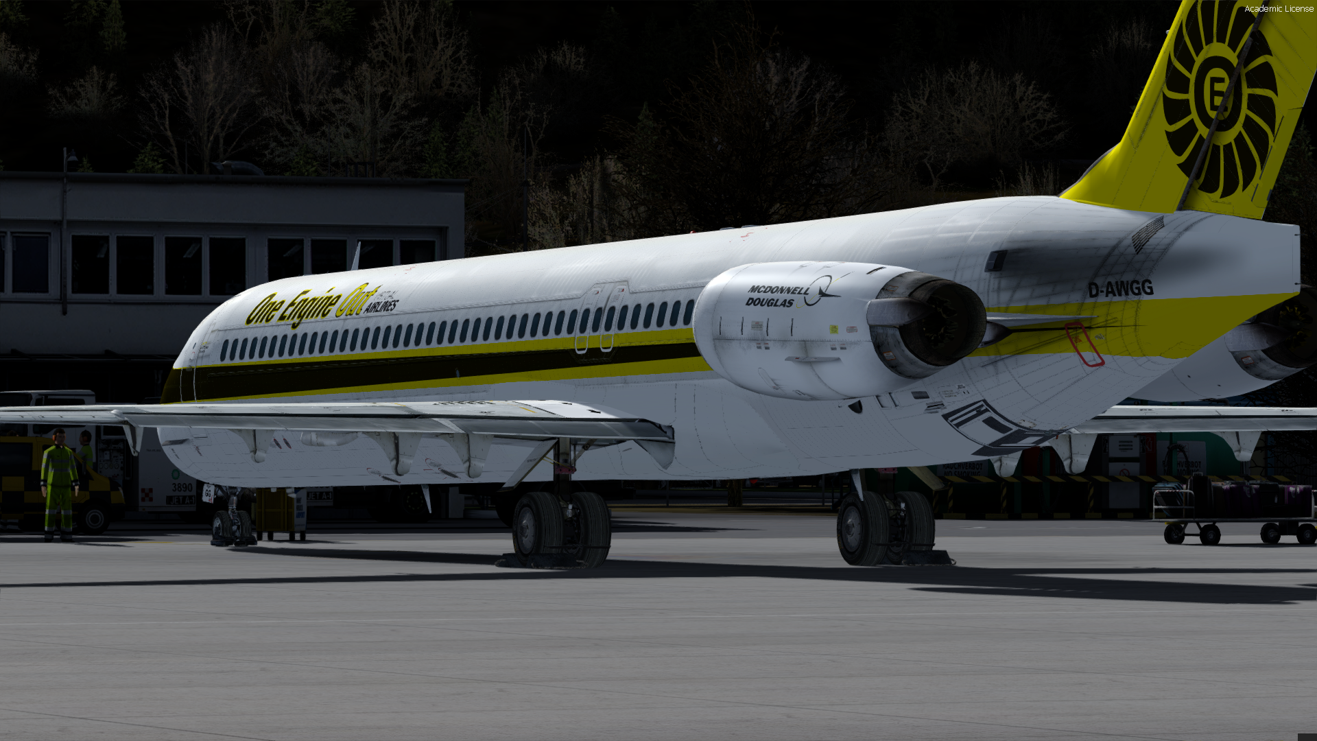 MD82 OEO Livery - Flat Tail (P3D)